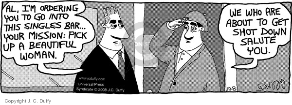 Comic Strip J.C. Duffy  Fusco Brothers 2008-10-08 male