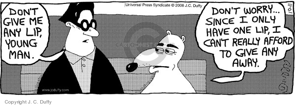 Comic Strip J.C. Duffy  Fusco Brothers 2008-10-11 back