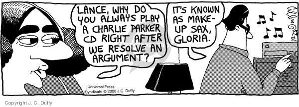 Comic Strip J.C. Duffy  Fusco Brothers 2008-10-23 argument