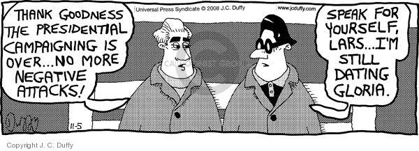 Comic Strip J.C. Duffy  Fusco Brothers 2008-11-05 election