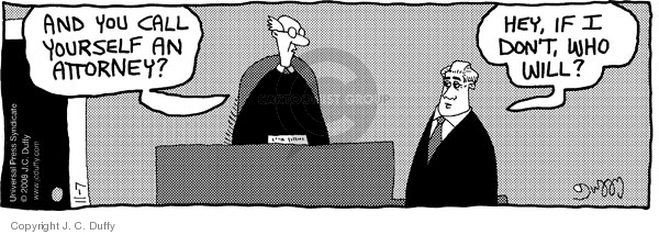 Comic Strip J.C. Duffy  Fusco Brothers 2008-11-07 attorney