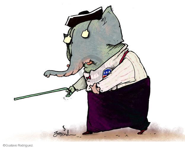 Gustavo Rodriguez  Garrincha's Editorial Cartoons 2012-01-02 republican party
