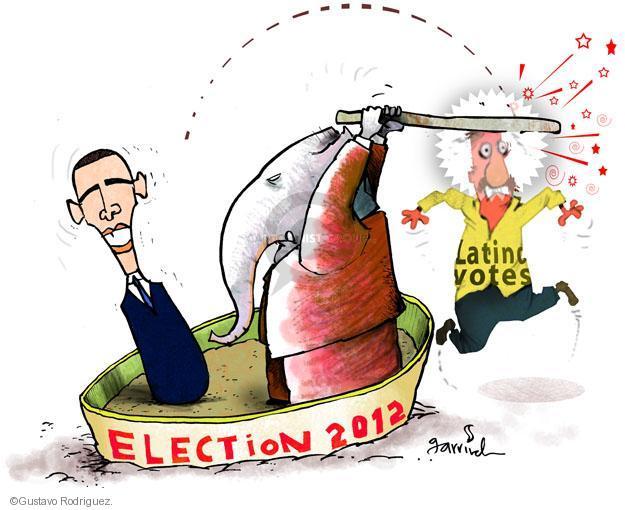 Election 2012. Latino votes.