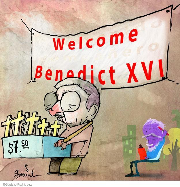 Gustavo Rodriguez  Garrincha's Editorial Cartoons 2012-01-27 cross