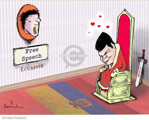 Gustavo Rodriguez  Garrincha's Editorial Cartoons 2012-02-17 egotism
