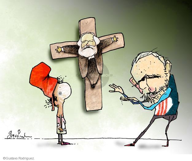 Gustavo Rodriguez  Garrincha's Editorial Cartoons 2012-03-28 cross