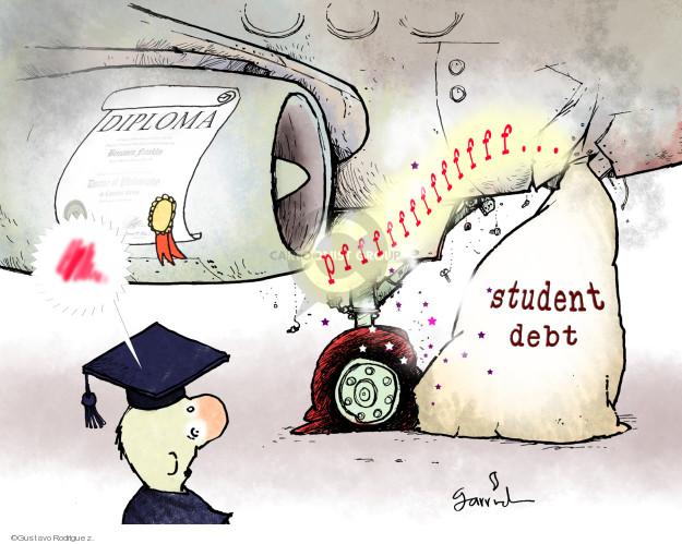 Gustavo Rodriguez  Garrincha's Editorial Cartoons 2012-05-18 college education