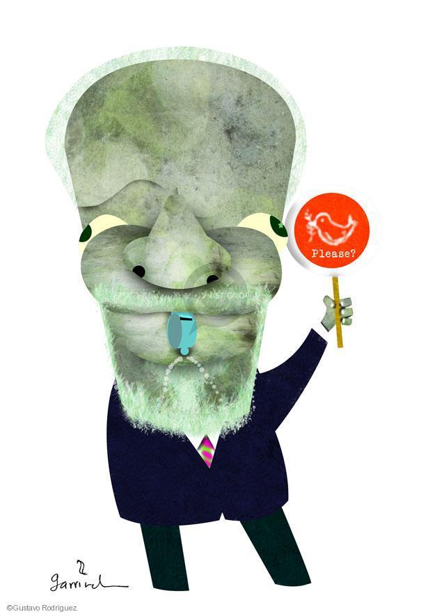 No caption. (Illustration of Kofi Annan).