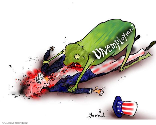 Cartoonist Gustavo Rodriguez  Garrincha's Editorial Cartoons 2012-06-03 unemployment