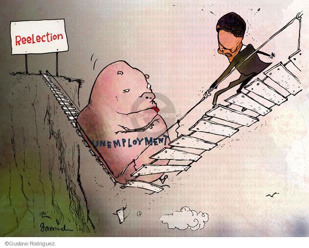 Cartoonist Gustavo Rodriguez  Garrincha's Editorial Cartoons 2012-06-04 unemployment