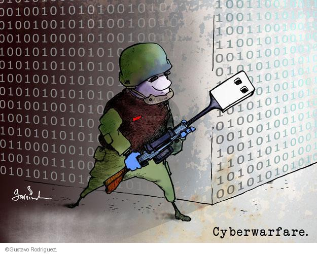 Gustavo Rodriguez  Garrincha's Editorial Cartoons 2012-06-04 cyber war