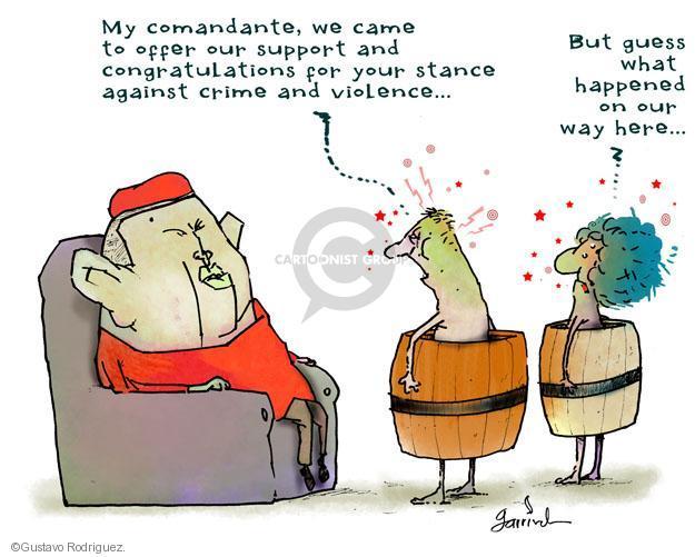 Gustavo Rodriguez  Garrincha's Editorial Cartoons 2012-06-27 crime