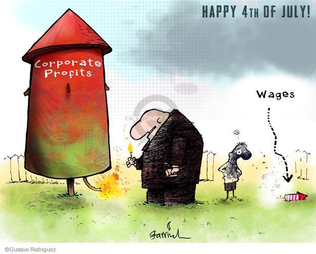 Gustavo Rodriguez  Garrincha's Editorial Cartoons 2012-07-04 corporate