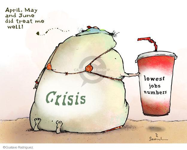 Cartoonist Gustavo Rodriguez  Garrincha's Editorial Cartoons 2012-07-09 recession