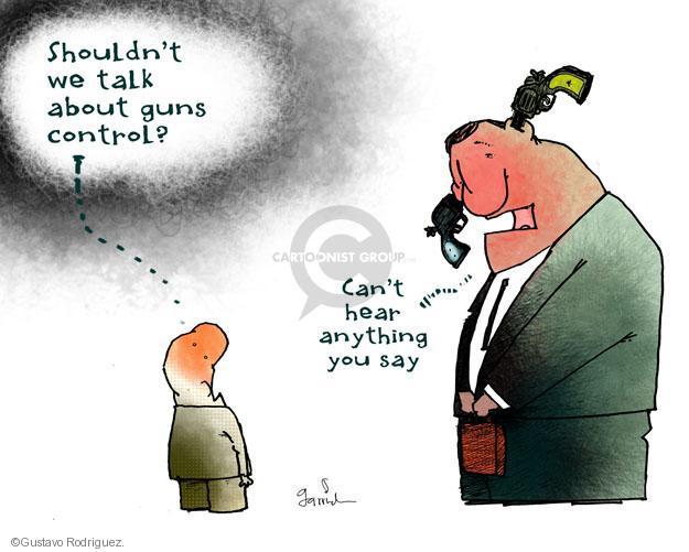 Gustavo Rodriguez  Garrincha's Editorial Cartoons 2012-07-30 assault weapon
