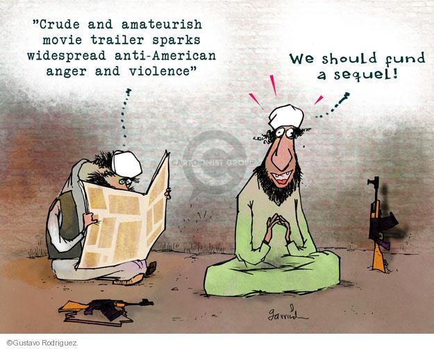 Gustavo Rodriguez  Garrincha's Editorial Cartoons 2012-09-17 movie violence