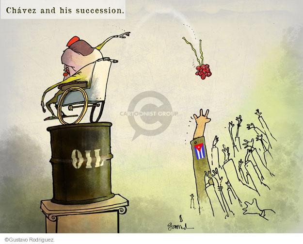 Chavez and his succession. Oil.