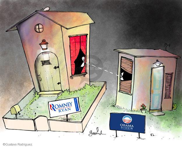 Gustavo Rodriguez  Garrincha's Editorial Cartoons 2012-11-05 campaign sign