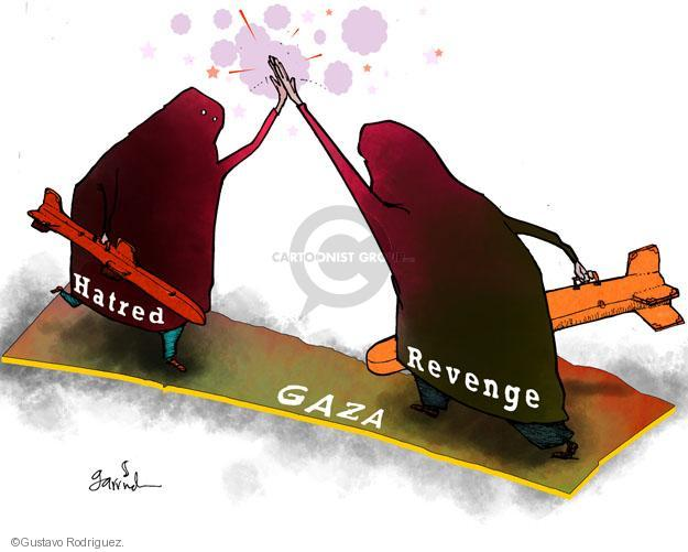 Gustavo Rodriguez  Garrincha's Editorial Cartoons 2012-11-19 Israel