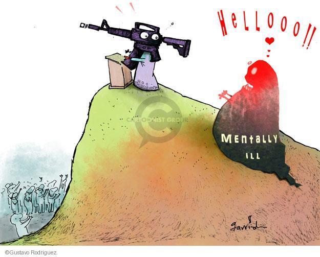 Gustavo Rodriguez  Garrincha's Editorial Cartoons 2012-12-19 assault weapon