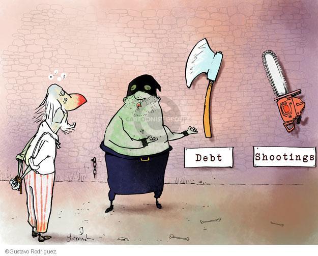 Cartoonist Gustavo Rodriguez  Garrincha's Editorial Cartoons 2012-12-28 shooting