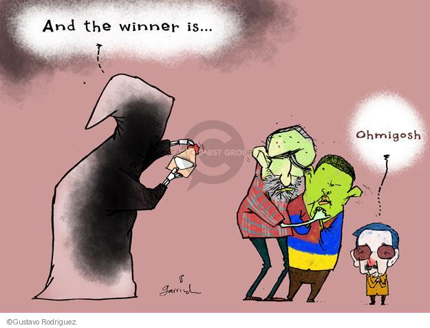 Gustavo Rodriguez  Garrincha's Editorial Cartoons 2013-01-06 Raul Castro