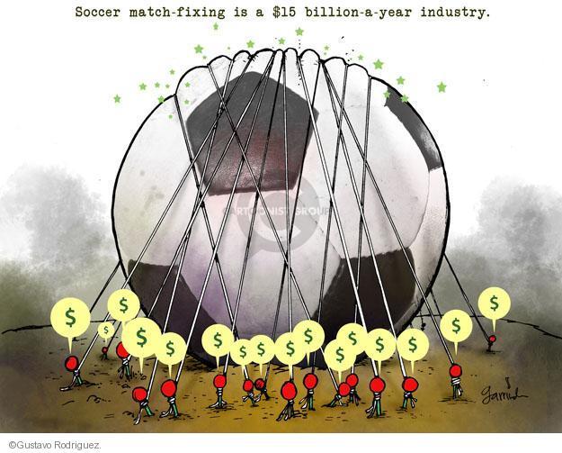 Gustavo Rodriguez  Garrincha's Editorial Cartoons 2013-02-14 $15