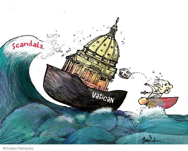Gustavo Rodriguez  Garrincha's Editorial Cartoons 2013-02-28 church