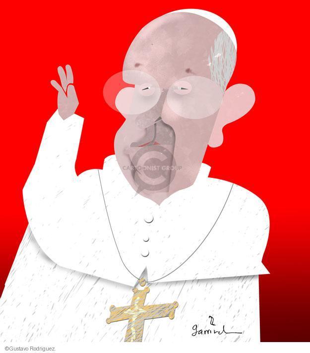 Gustavo Rodriguez  Garrincha's Editorial Cartoons 2013-03-13 Pope Francis