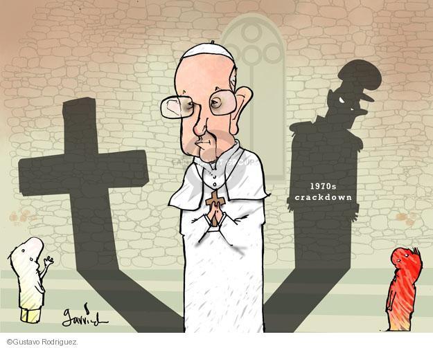 Gustavo Rodriguez  Garrincha's Editorial Cartoons 2013-03-15 Pope Francis