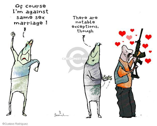 Gustavo Rodriguez  Garrincha's Editorial Cartoons 2013-03-28 assault weapon