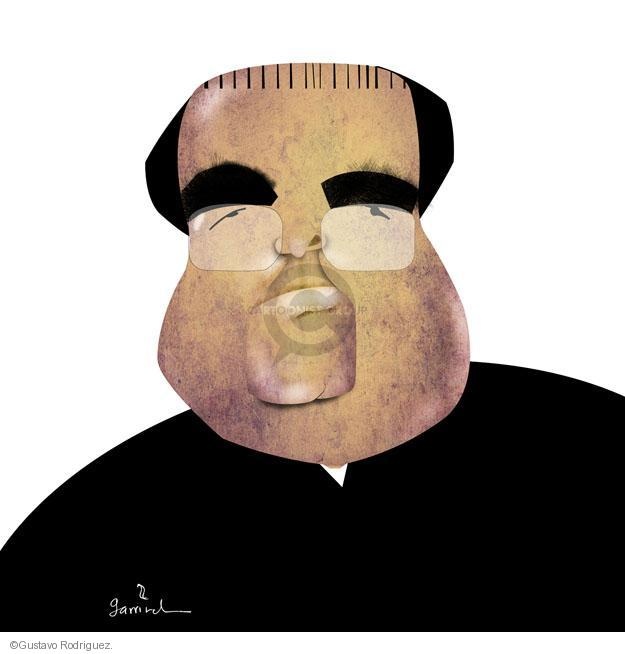 No caption. (Illustration of Justice Antonin Scalia).