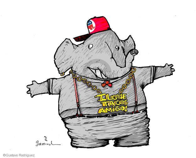 Gustavo Rodriguez  Garrincha's Editorial Cartoons 2013-04-17 political party