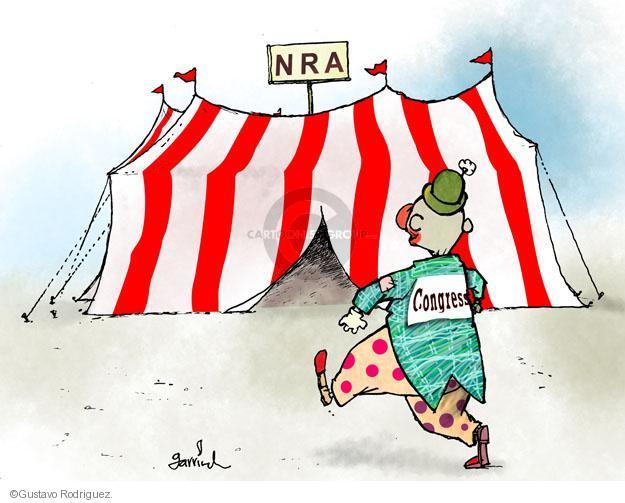 Cartoonist Gustavo Rodriguez  Garrincha's Editorial Cartoons 2013-04-18 gun rights