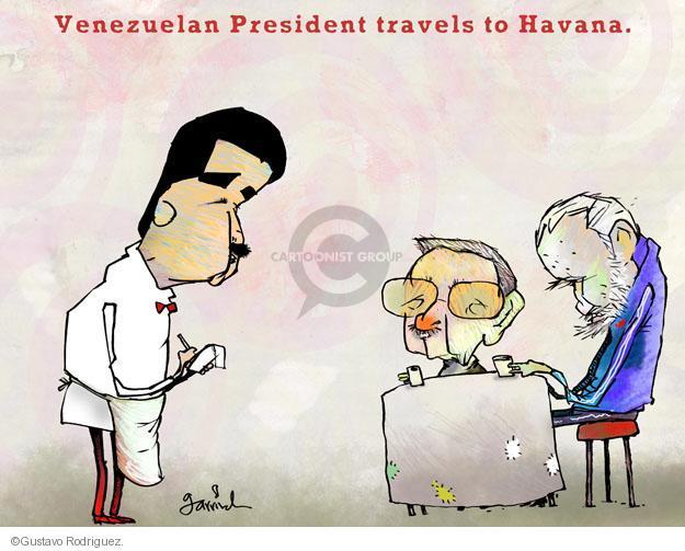 Gustavo Rodriguez  Garrincha's Editorial Cartoons 2013-04-29 Fidel Castro