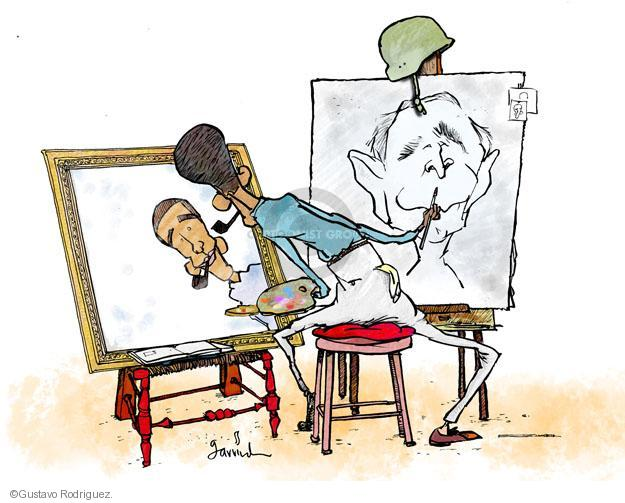 Gustavo Rodriguez  Garrincha's Editorial Cartoons 2013-06-06 painting