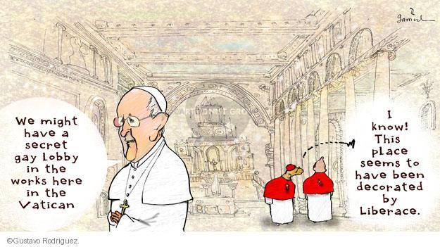 Gustavo Rodriguez  Garrincha's Editorial Cartoons 2013-06-12 Pope Francis