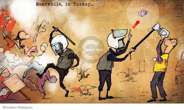 Gustavo Rodriguez  Garrincha's Editorial Cartoons 2013-06-12 police