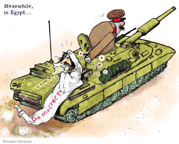 Gustavo Rodriguez  Garrincha's Editorial Cartoons 2013-07-12 Egyptian revolution