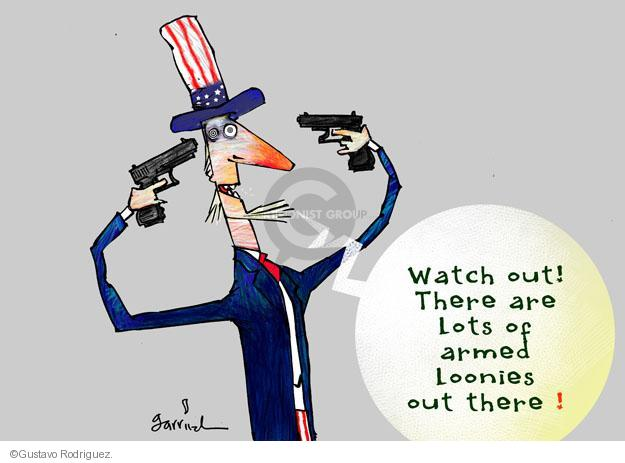 Cartoonist Gustavo Rodriguez  Garrincha's Editorial Cartoons 2013-09-16 mass shooting