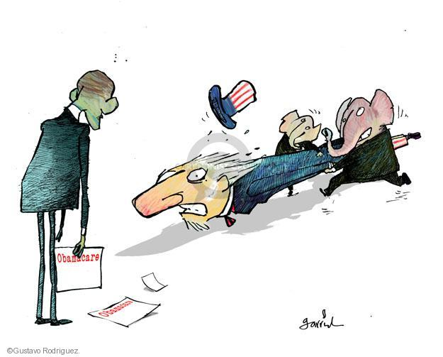 Cartoonist Gustavo Rodriguez  Garrincha's Editorial Cartoons 2013-10-03 congress health care