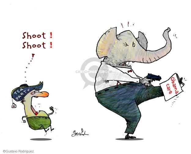 Shoot! Shoot! Tea Party. Obamacare.