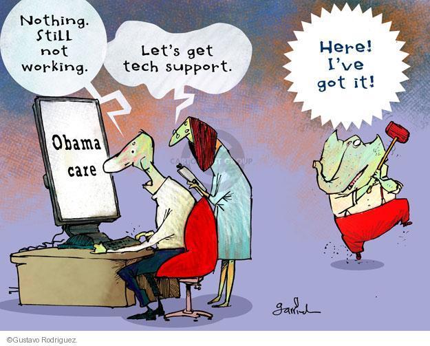 Gustavo Rodriguez  Garrincha's Editorial Cartoons 2013-10-24 GOP