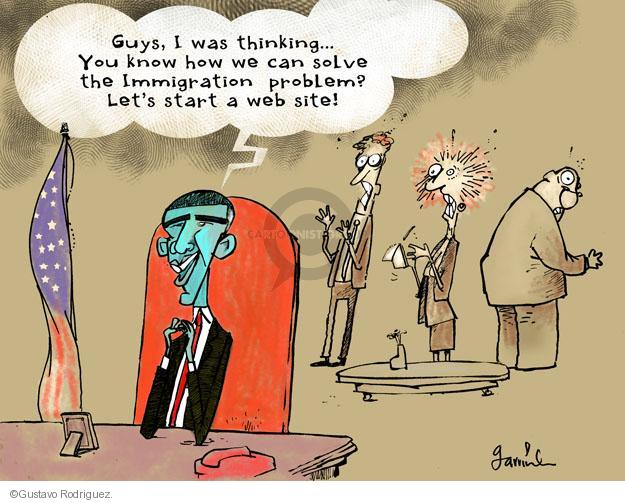 Gustavo Rodriguez  Garrincha's Editorial Cartoons 2013-11-05 immigration