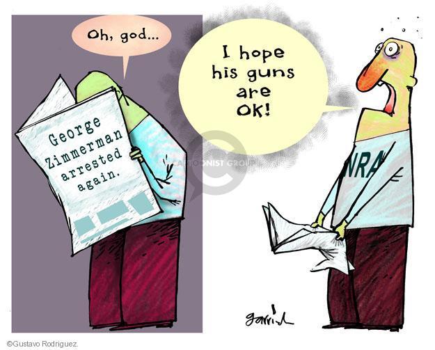 Cartoonist Gustavo Rodriguez  Garrincha's Editorial Cartoons 2013-11-19 gun rights