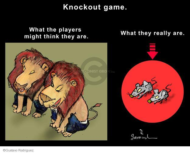 Knockout game. What the players think they are. What they really are.