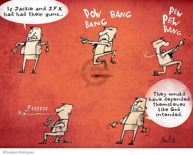Cartoonist Gustavo Rodriguez  Garrincha's Editorial Cartoons 2013-11-24 gun violence