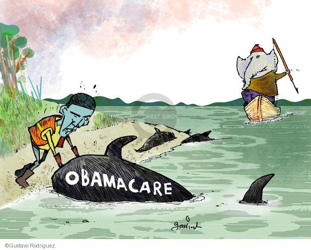 Gustavo Rodriguez  Garrincha's Editorial Cartoons 2013-12-05 GOP