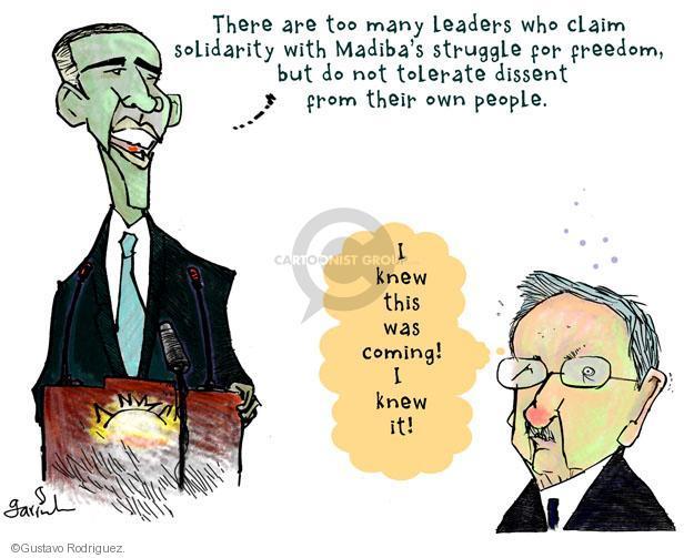 Gustavo Rodriguez  Garrincha's Editorial Cartoons 2013-12-10 Raul Castro
