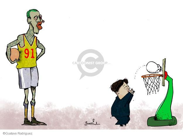 Gustavo Rodriguez  Garrincha's Editorial Cartoons 2013-12-19 Korea